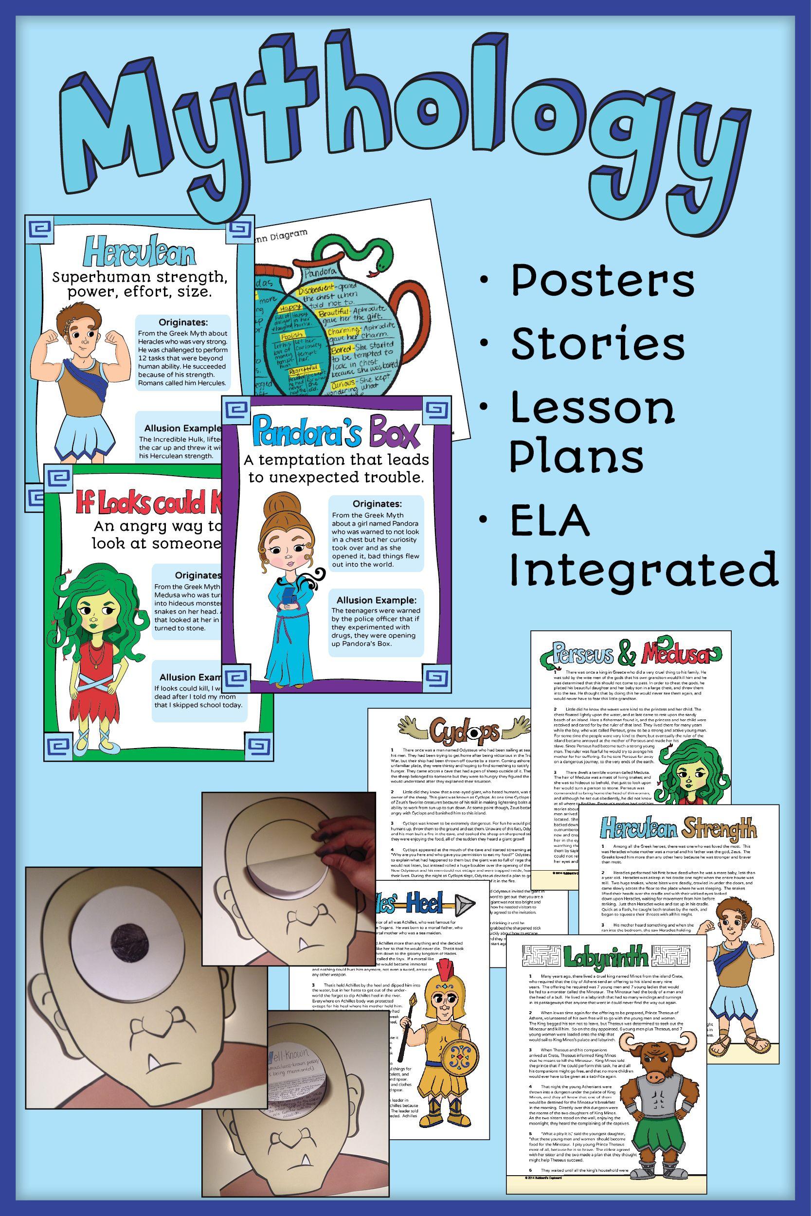 Greek Mythology Story Elements - Plot - Theme - Greek Stories - Allusions  CCSS   Homeschool [ 2500 x 1667 Pixel ]