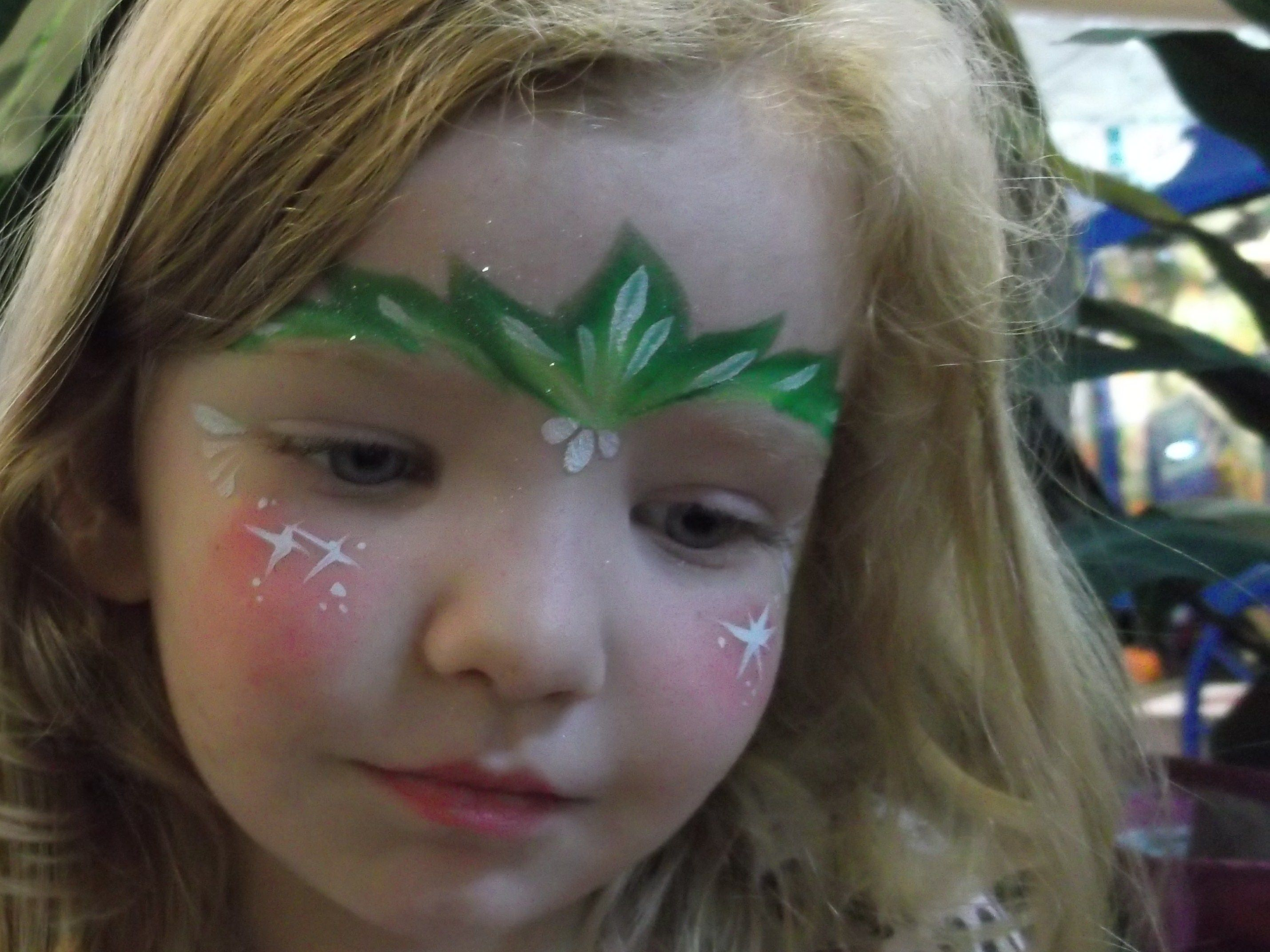 Amazing Face Painting By Linda Christmas Face Painting Fairy Face Paint Face Painting Designs
