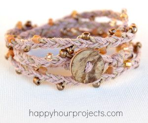 Beaded hemp wrap bracelet bead patterns beads and wraps allfreejewelrymaking learn how to make jewelry free bead patterns find free fandeluxe Images