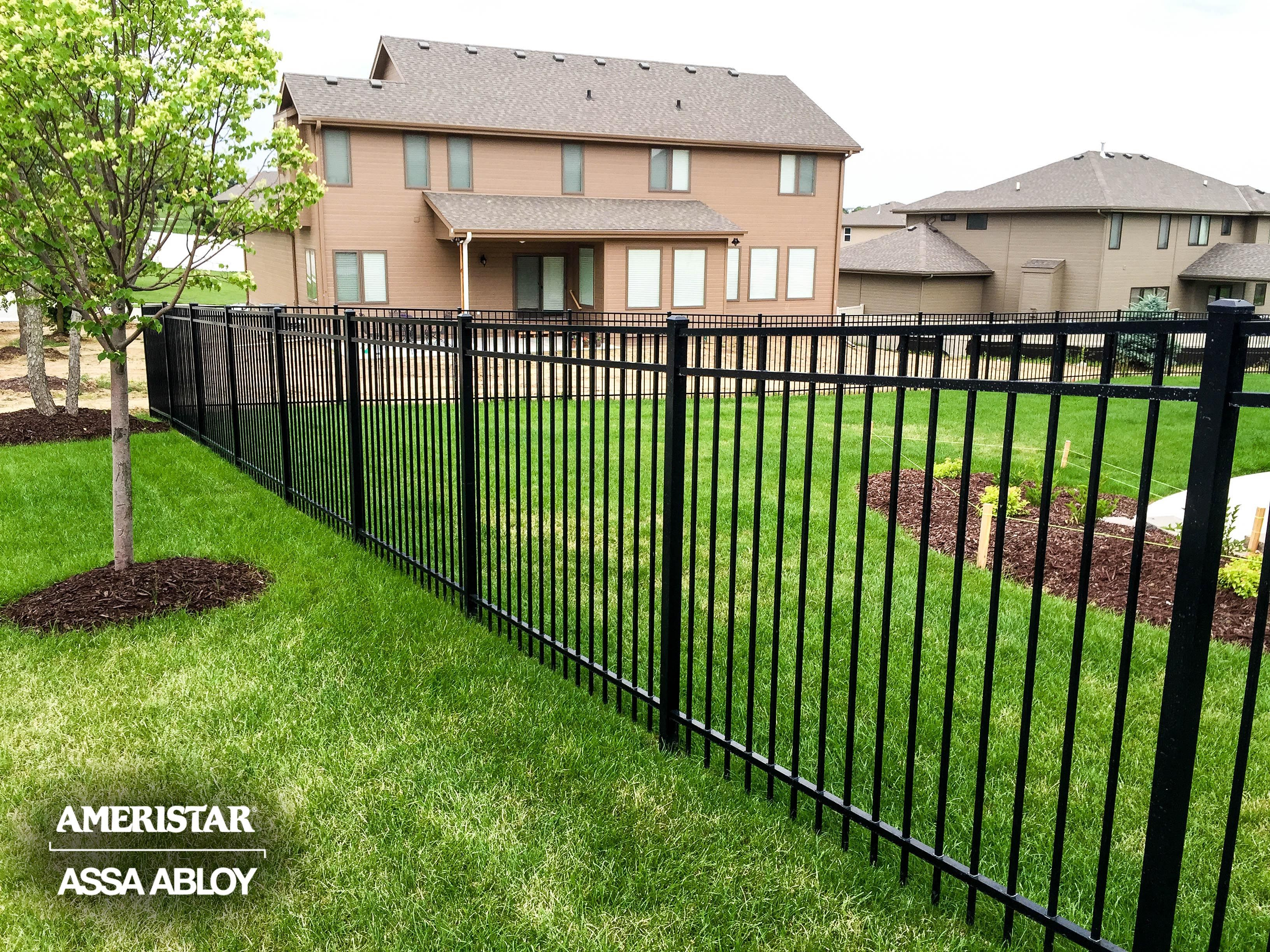 Black Classic Backyard Fence Ameristar With Images Backyard