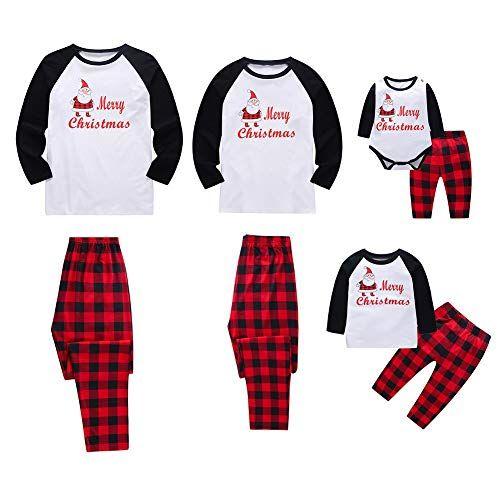 4c154583fd533 Baywell Adulte Enfants Mère Père Famille Assortie Ensemble de Pyjama de Noël  Vêtement de Nuit Bébé