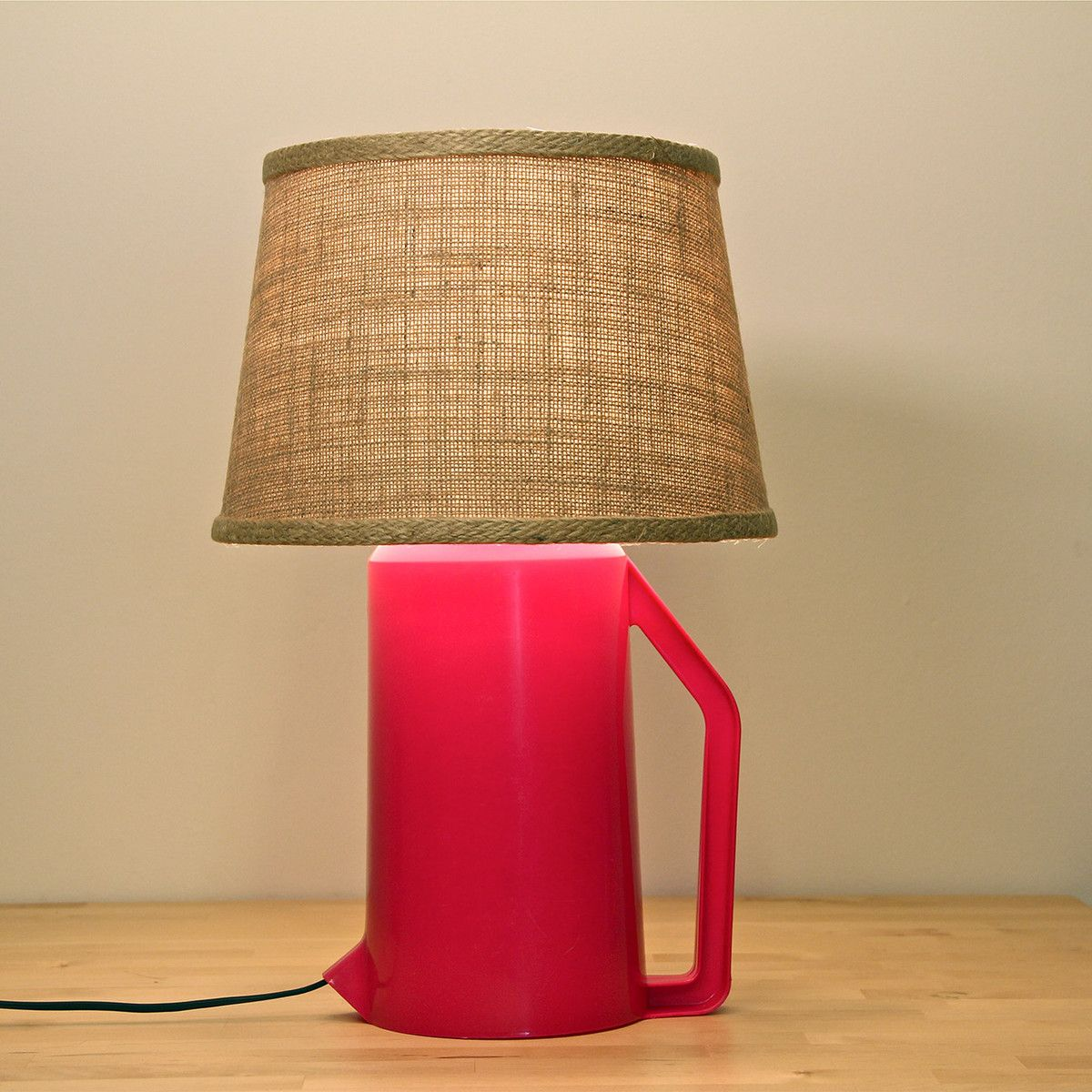 More Upcycled Plastic 130 100 Rubbermaid Pitcher Lamp