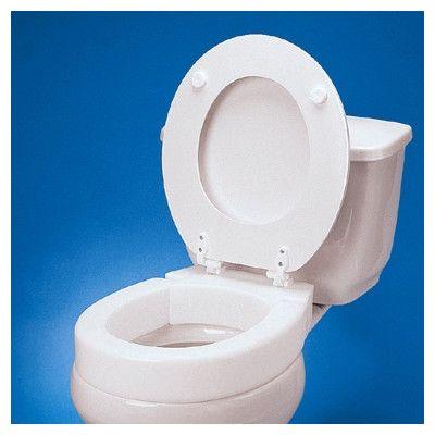 Standard Hinged Raised Toilet Seat Extension Toilet Bathroom