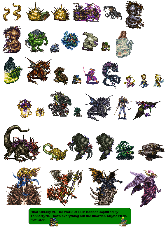 Sprite Database World Of Ruin Bosses Final Fantasy Characters