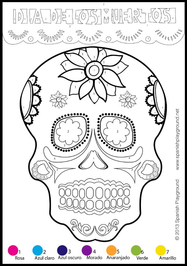 Easy Day of the Dead Crafts for Spanish Class | Number, Easy and Craft