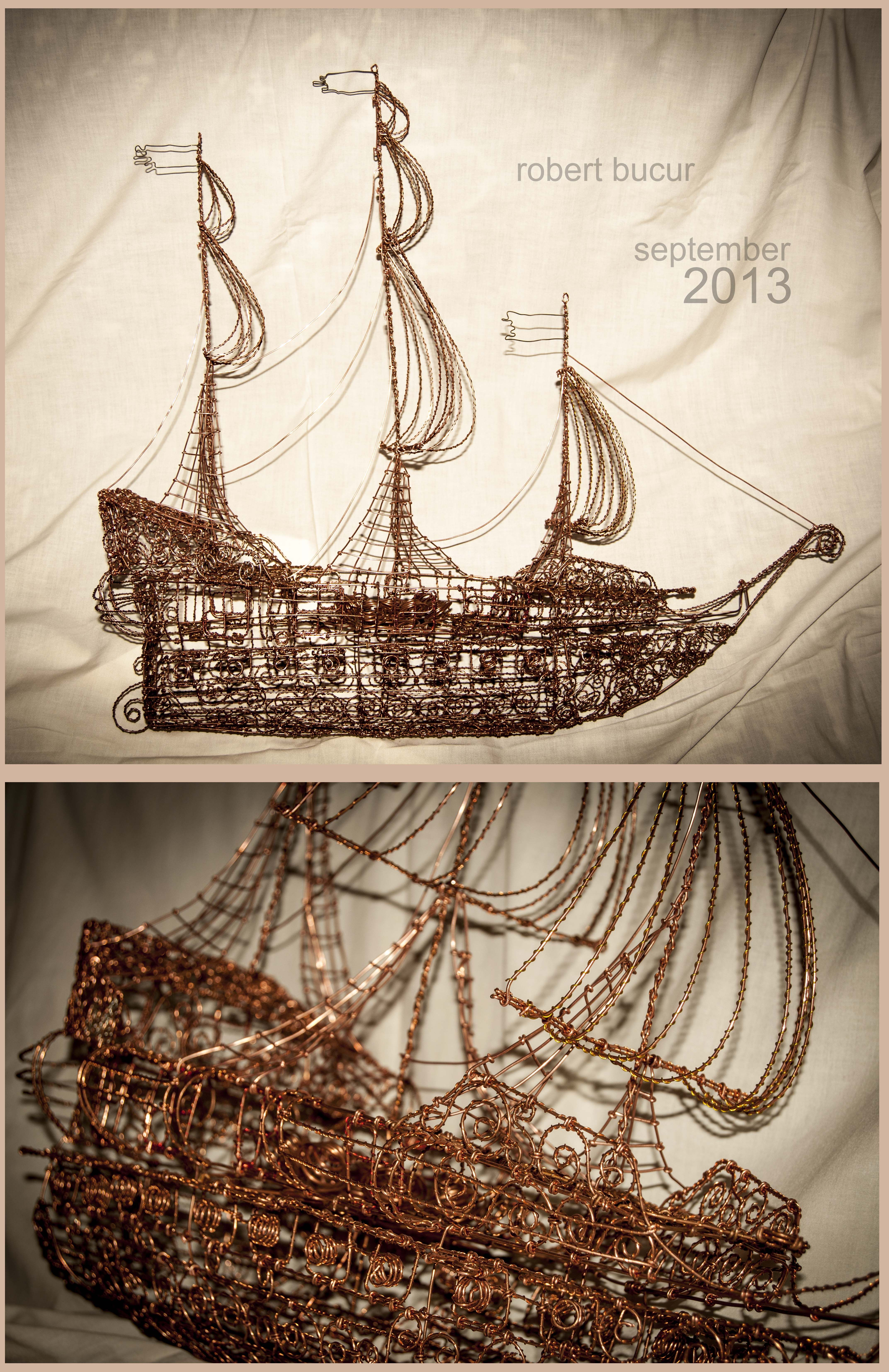 Unusual Art Copper Wire Ship Photos - Electrical Circuit Diagram ...