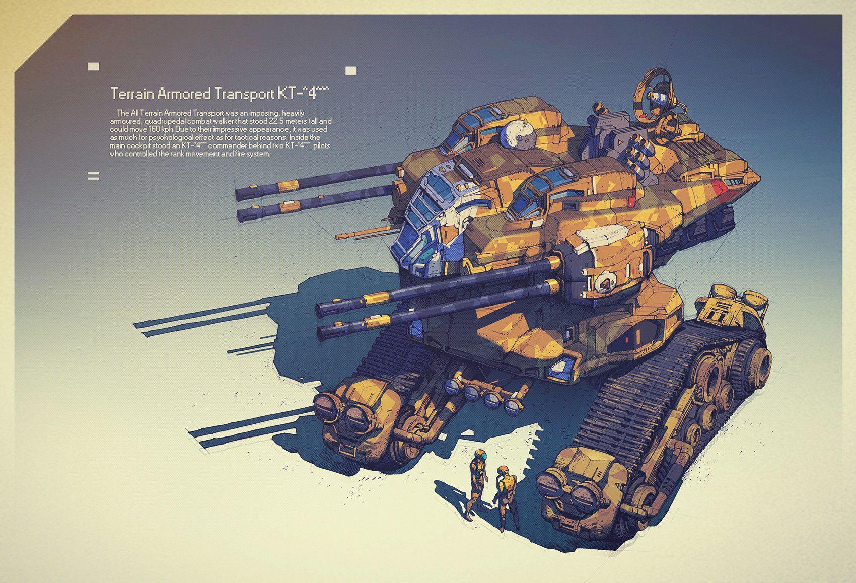 Artstation terrain armored transport kt4 ivan