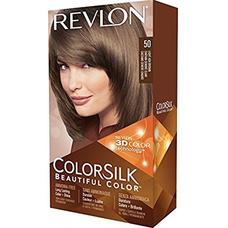 Revlon Colorsilk Hair Color 50 Light Ash Brown 1 Ea Pack Of 12