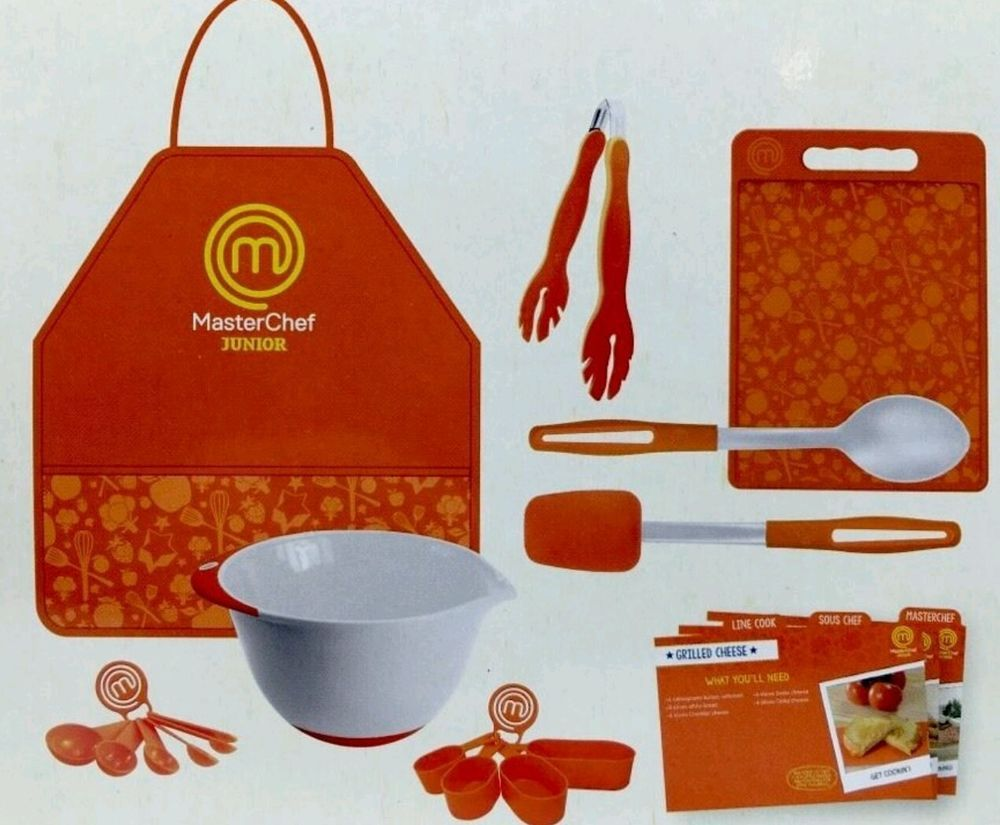 MasterChef Junior Cooking Essentials Set Complete Kitchen Fun As Seen On TV  New | Cooking essentials, Masterchef, Diy meal planning