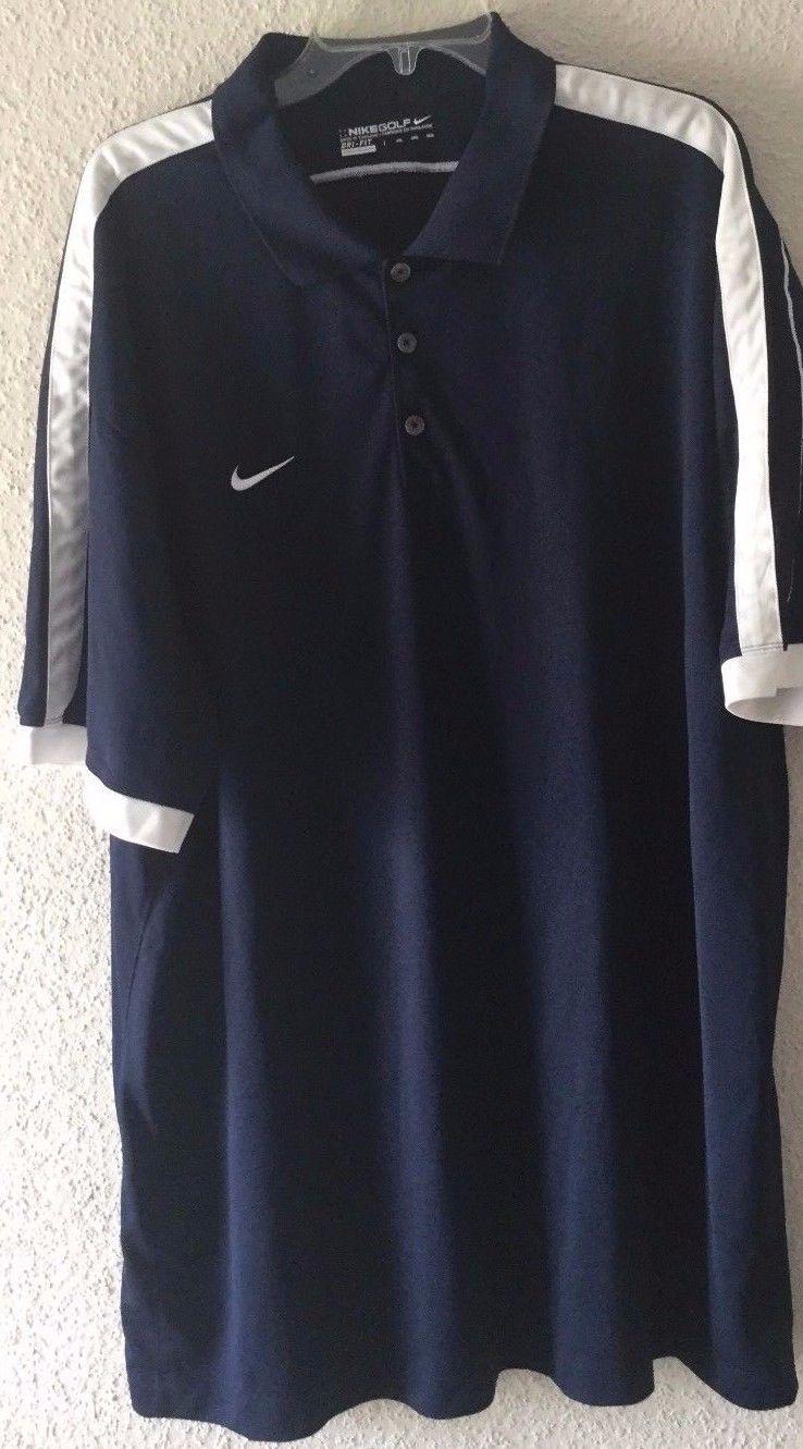 2465 Nike Golf Dri Fit Polo Shirt Navy Blue White Sz 4xl Ebay