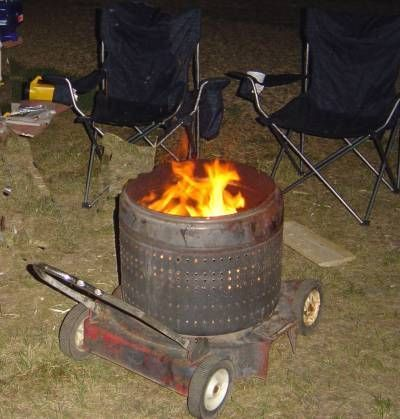 Pin By Matriarchy On All Domicile Portable Fire Pits Washing Machine Drum Fire Pit