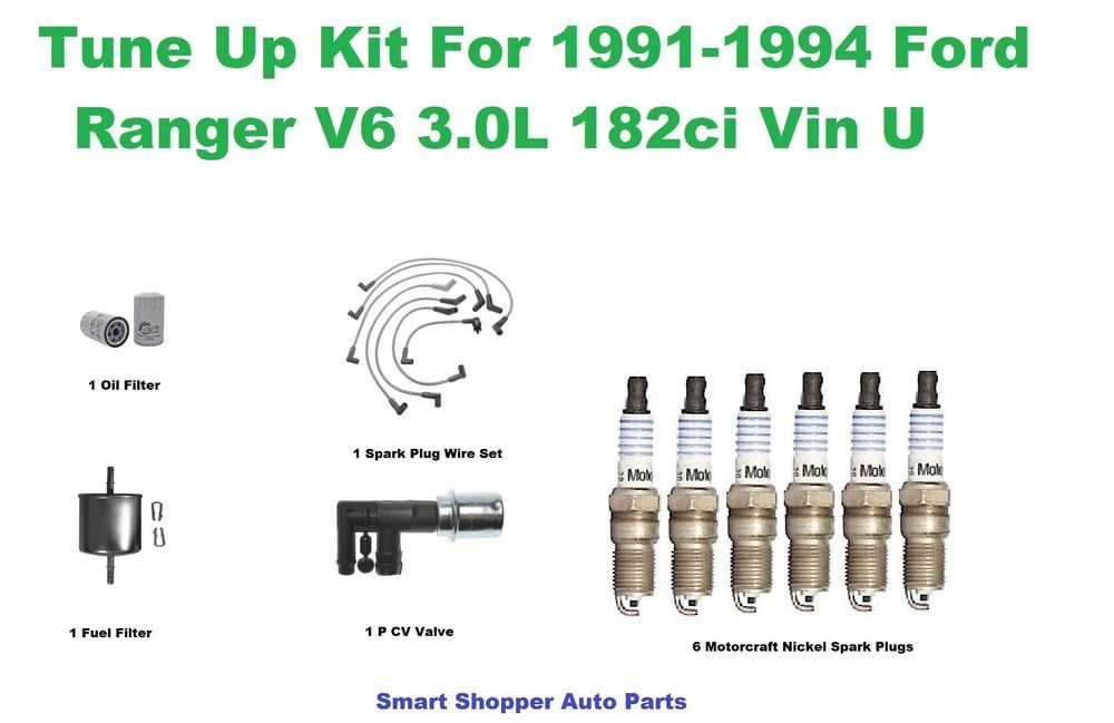 984d7ec3171ad452b373dff4a286d99e tune up kit for 91 94 ford ranger v6 3 0l vin u spark plug wire