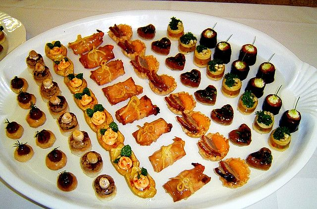 Platter canapes and party nibbles for Canape platters