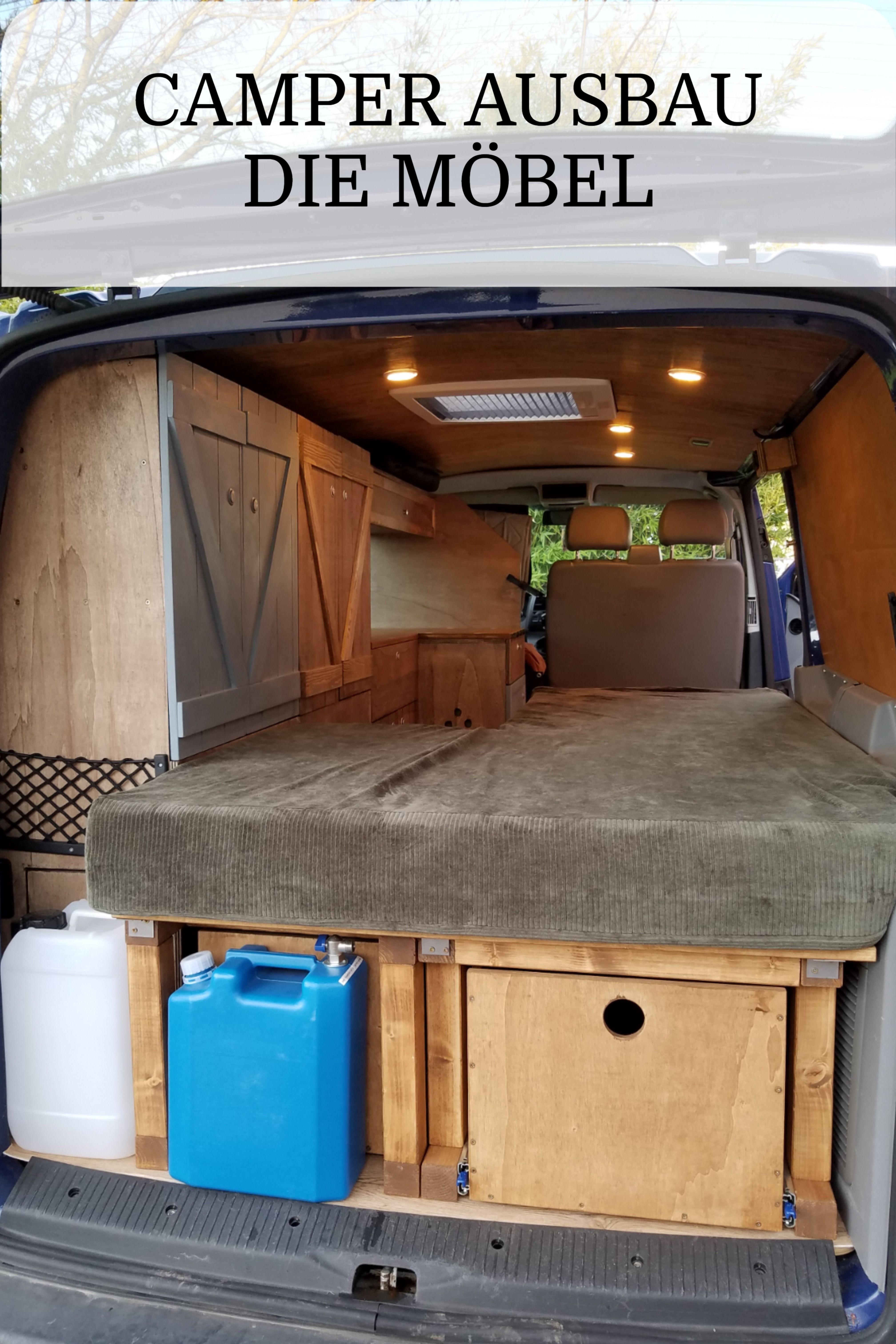 Möbel für den Camper aus Holz selber bauen.  Campervan innen