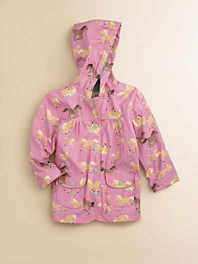 Hatley - Toddler's & Little Girl's Running Horses Raincoat - Saks.com