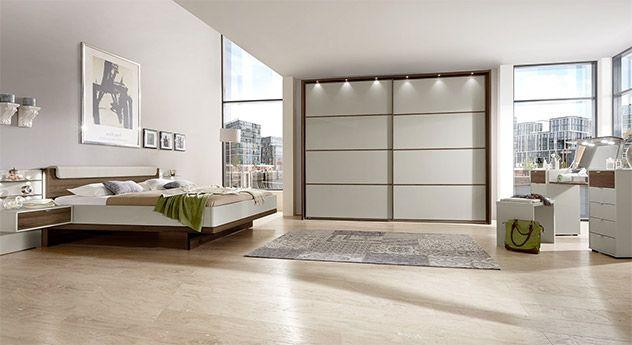 Komplett-Schlafzimmer Patiala mit Zubehör in Dekor-Oberfläche - schlafzimmer massiv komplett