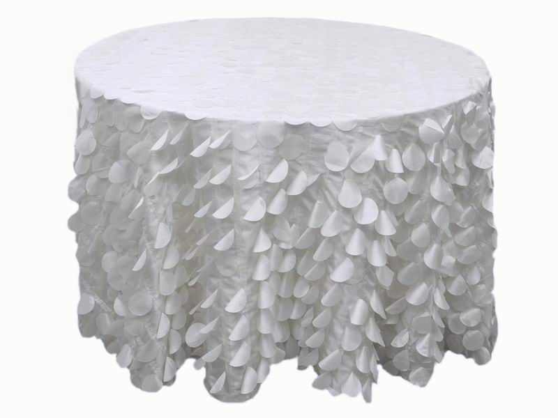120 White Round Flamingo Petals Tablecloth With Images Table Cloth Petal Table 120 Round Tablecloth