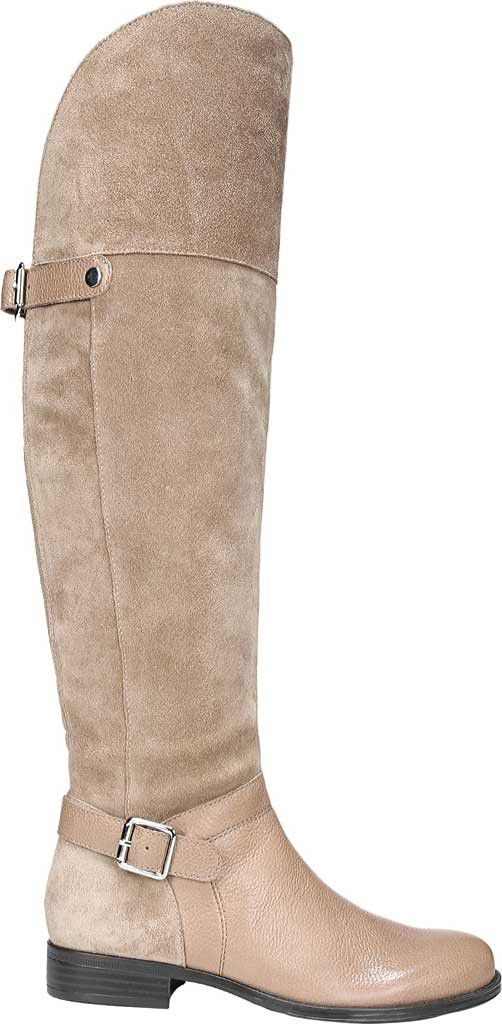 20a55e50e44f Naturalizer January Over-The-Knee Wide Calf Riding Boot - Brown  Leather Suede 4.5 M (Regular)