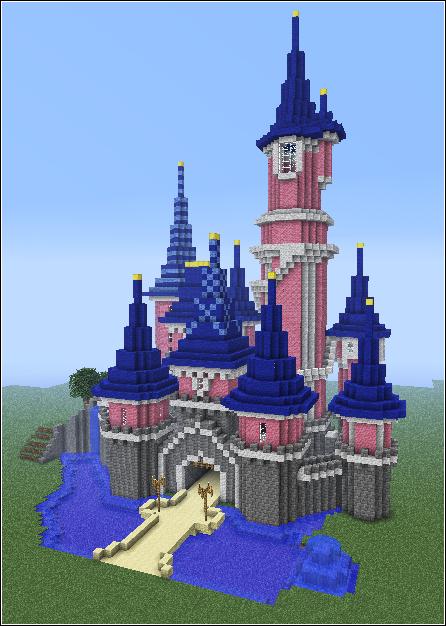 Disney Castle In Minecraft Minecraft Maisons Pinterest - Minecraft hauser zeichnen