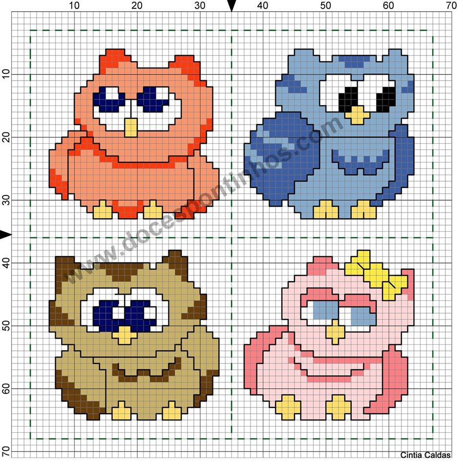 Pin by rose duraes on px corujas pinterest puzzle crochet owls owl crafts hobby bookmarks pattern cross stitch dishcloth cross bankloansurffo Gallery