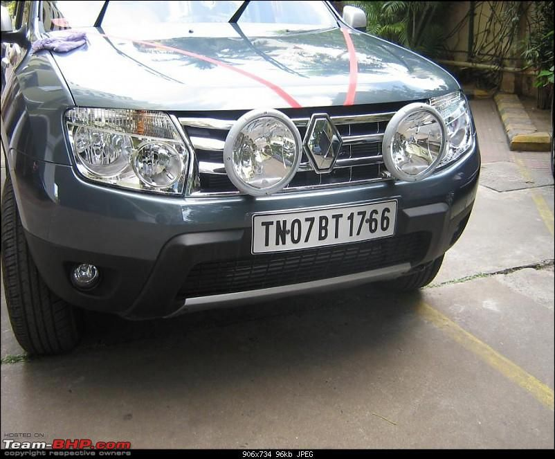 Renault Duster Guide : How to install driving lamps & aftermarket ...