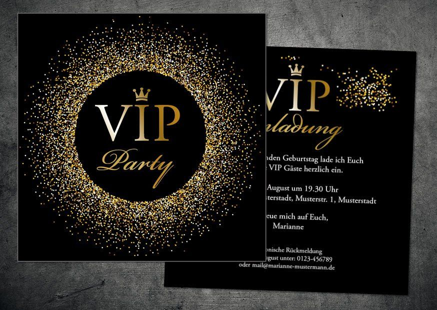30th Birthday Invitation VIP Party