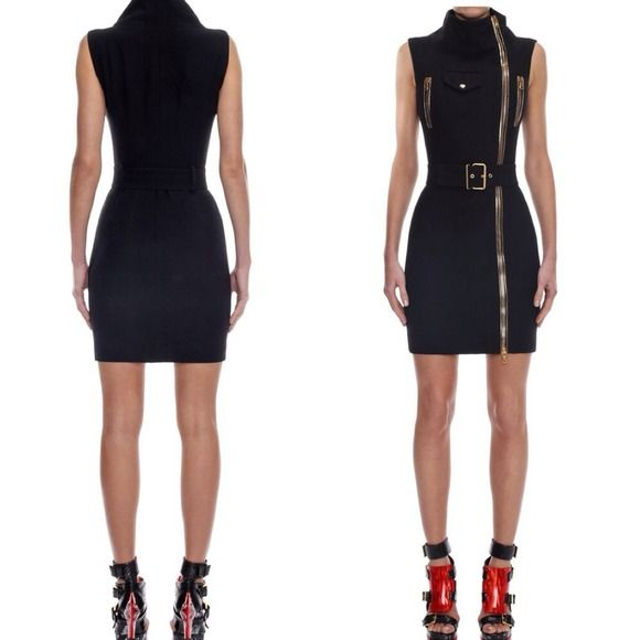 Authentic Alexander McQueen dress A MUST HAVE Leaf crepe pencil dress with funnel neck and biker full zip detail, pockets and waist belt. Material:50% Acetate, 50% Rayon ❌NO TRADES❌NO PAYPAL ❌NO HOLD will post pics upon request only if you intend to buy. Thank you❤️ Alexander McQueen Dresses