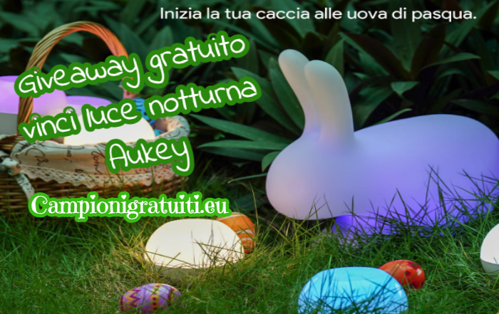 Giveaway Aukey vinci luce notturna