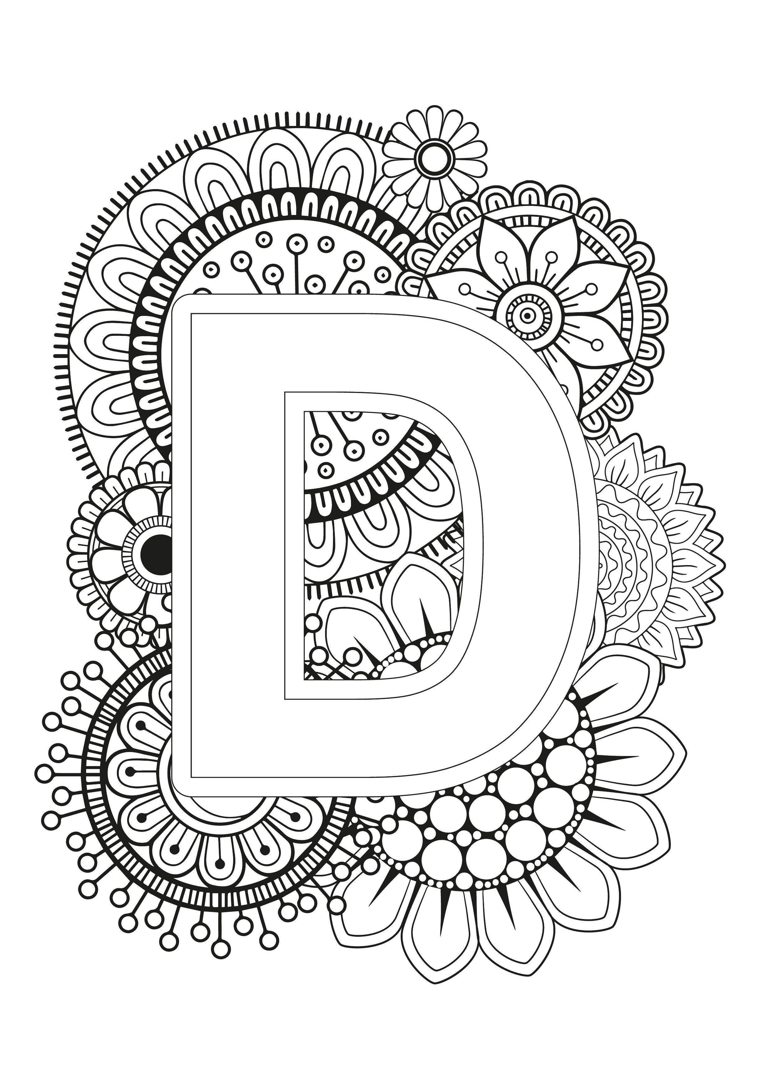 Mindfulness Coloring Page Alphabet Mandala Coloring Pages Alphabet Coloring Pages Mandala Coloring