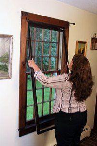 Interior Storm Windows Being Installed