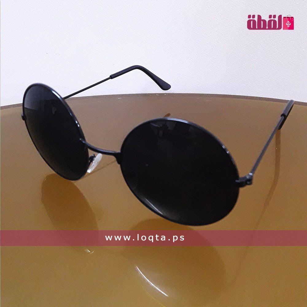 نظارة شمسية إطار معدني رفيع أسود عدسة دائرية سوداء Loqta Ps Sunglasses Women Sunglasses Circle Lenses