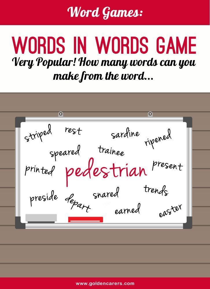 Word Game  Activities Elderly Activities And Adult Crafts