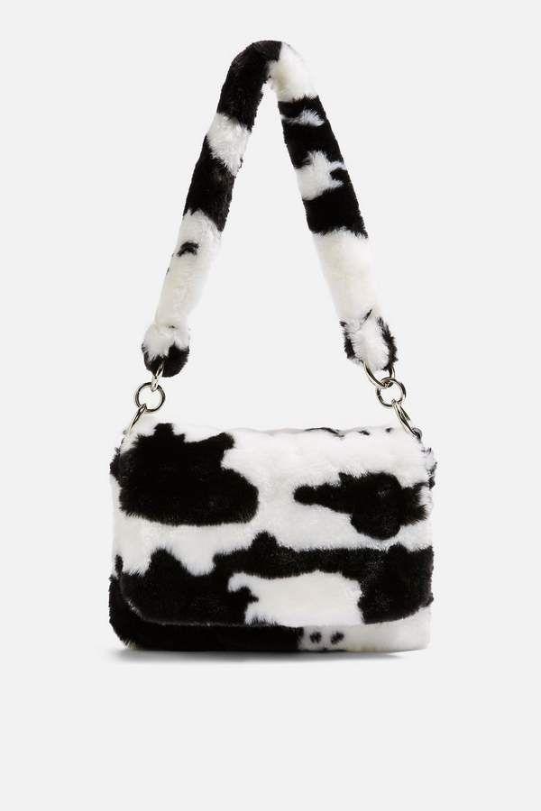 Teddy Faux Fur Cow Shoulder Bag   Shoulder bag women, Bags