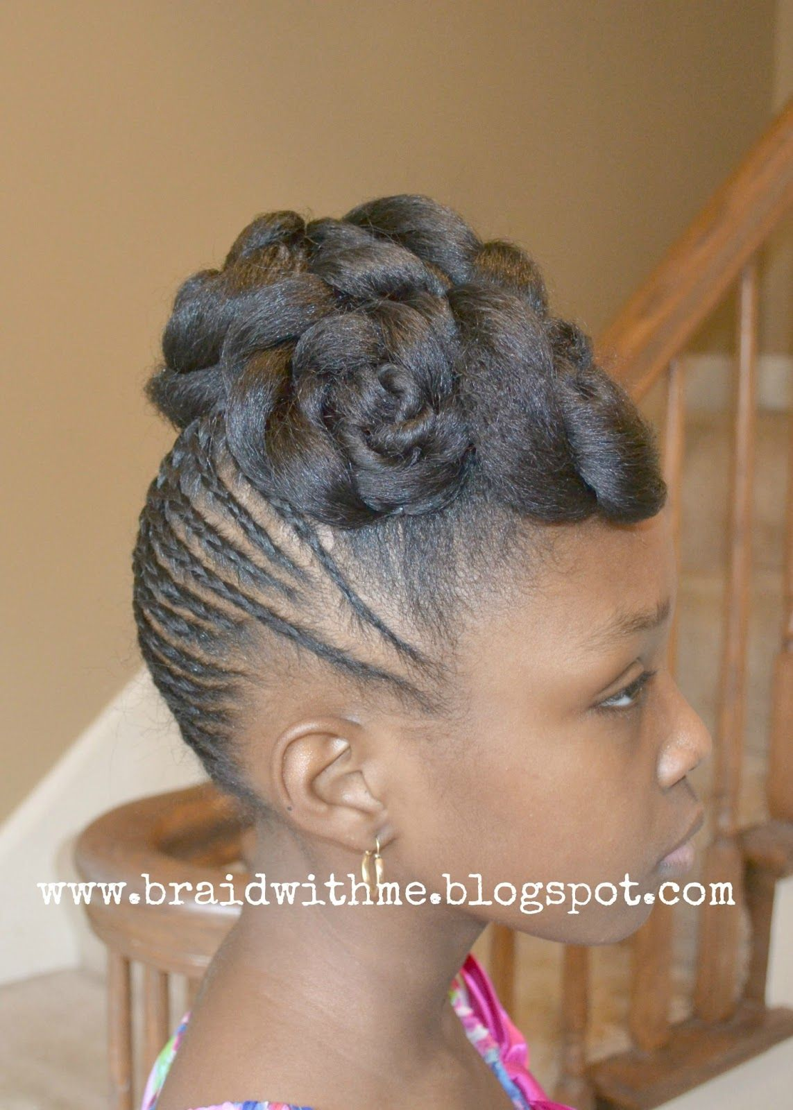 Braid with me easter updo for natural hair hair for the girls little black girl braid styles with beads kids hair little girls girls generation easter updo little black girls pmusecretfo Images