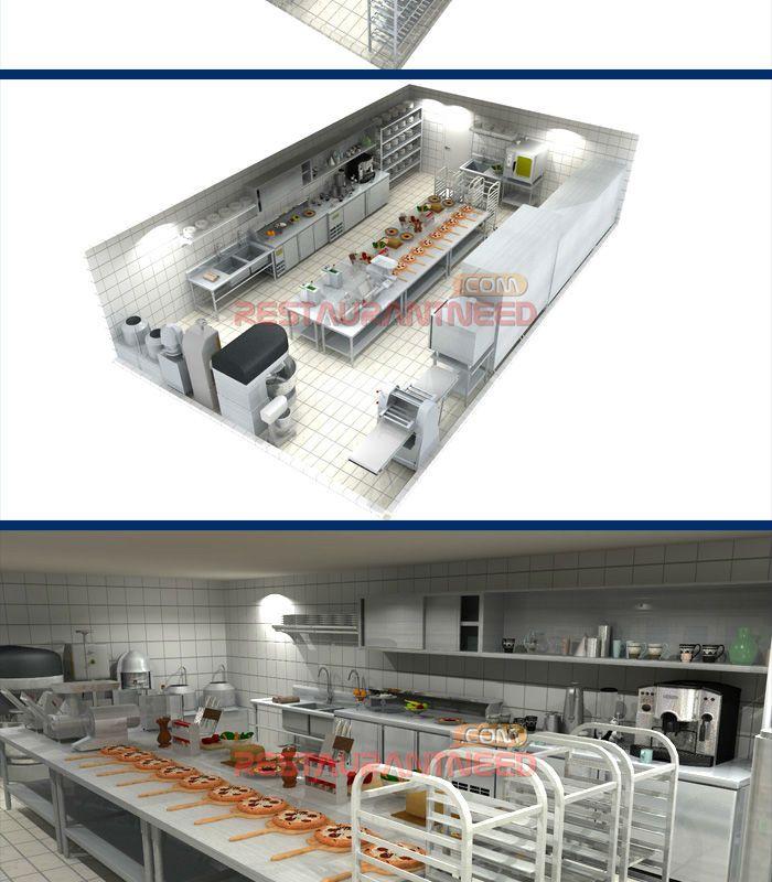 Kitchen Store Design: Luxury Bakery Pizza Shop Project Equipment