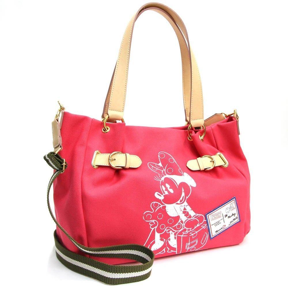 b6b1b1157077 RARE Samantha Thavasa Expo Japan 2Way Tote Bag D23 Pink Canvas 428   SamanthaThavasa