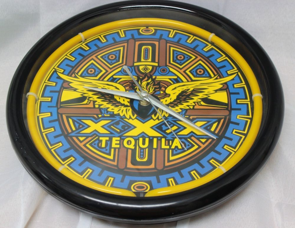 Xxx tequila neon light up wall clock yellow blue man cave home bar xxx tequila neon light up wall clock yellow blue man cave home bar mayan decor mozeypictures Gallery