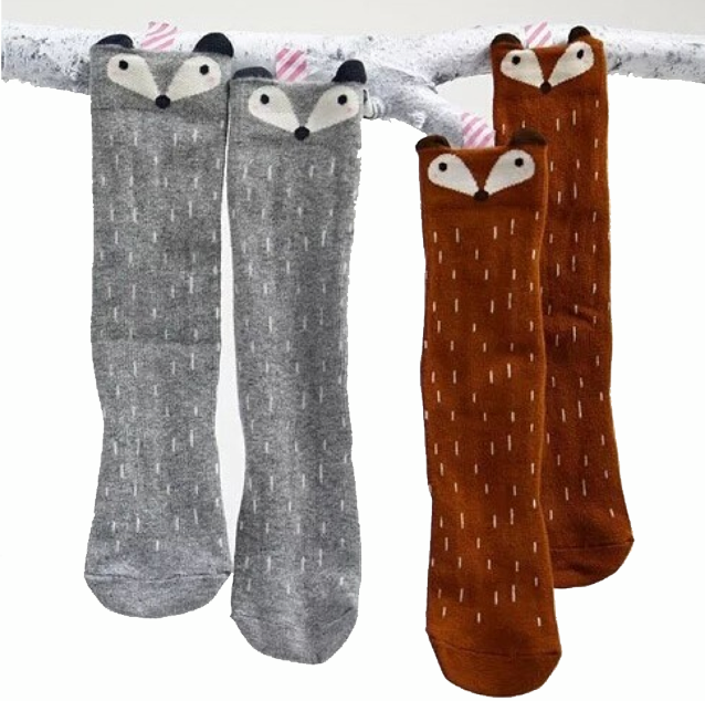 www.shopevermore.com Adorable Woodland Knee High Socks. Soft and Stretchy with adorable woodland  animal faces.  Small NB-9 Months  Medium 9 Months - 18 Months  Large 8 Months -3T