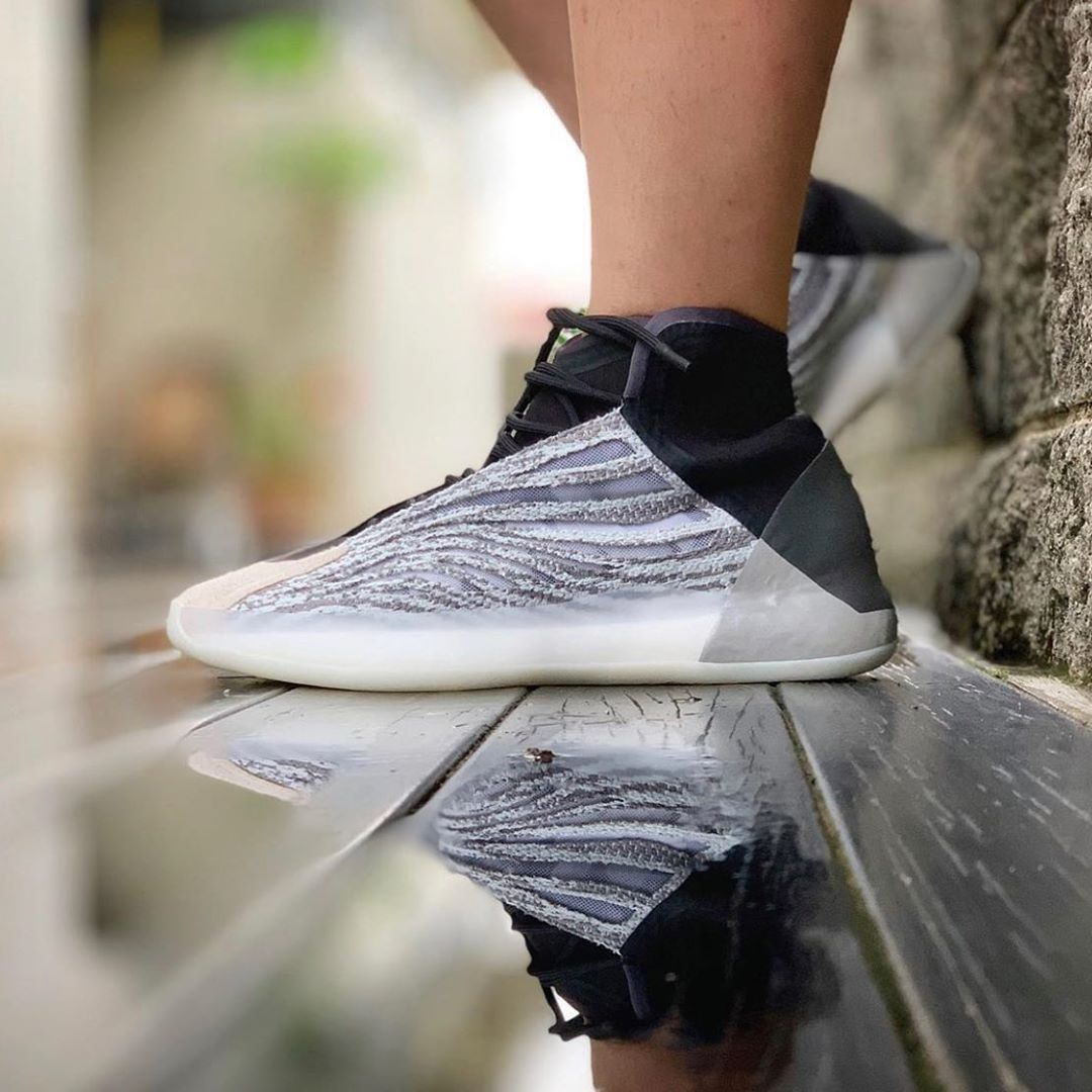 How The Adidas Yeezy Basketball Looks On Foot Nice Kicks Adidas Yeezy Adidas Yeezy