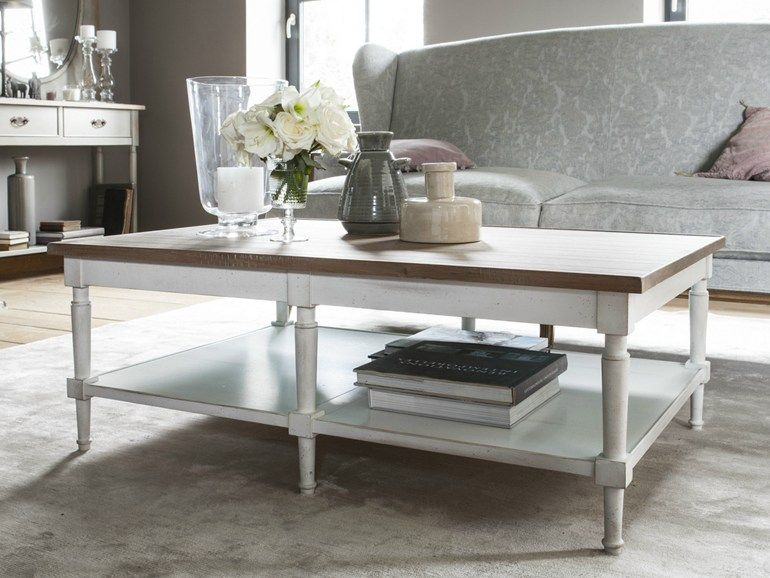 COUNTRY CHIC Rectangular coffee table by Grange
