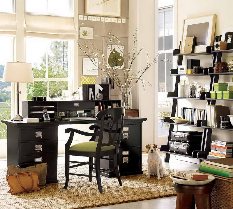 Beau Small Home Office Organization Ideas With Window Curtain