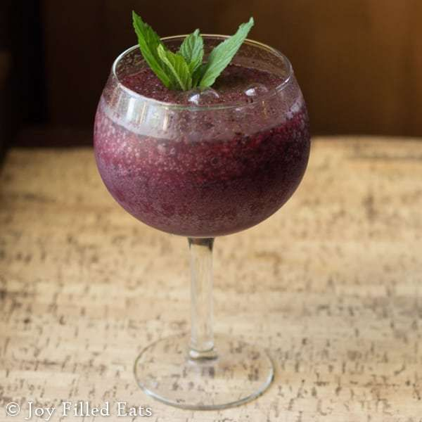 Frozen Blueberry Mojito - Joy Filled Eats