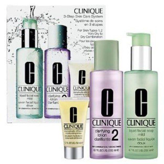 Clinique 3 Step Care System Set Very Dry To Dry Combination Skin Reviews Q A Influenster Skin Care System Oil Skin Care Routine Skin Care