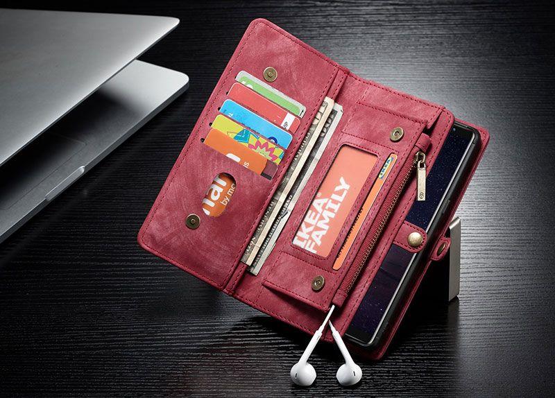 Caseme samsung galaxy note 9 zipper wallet folio