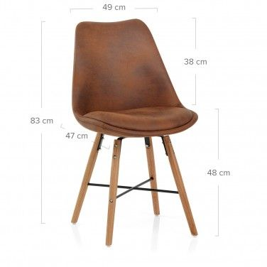 Ski Dining Chair Antique Brown