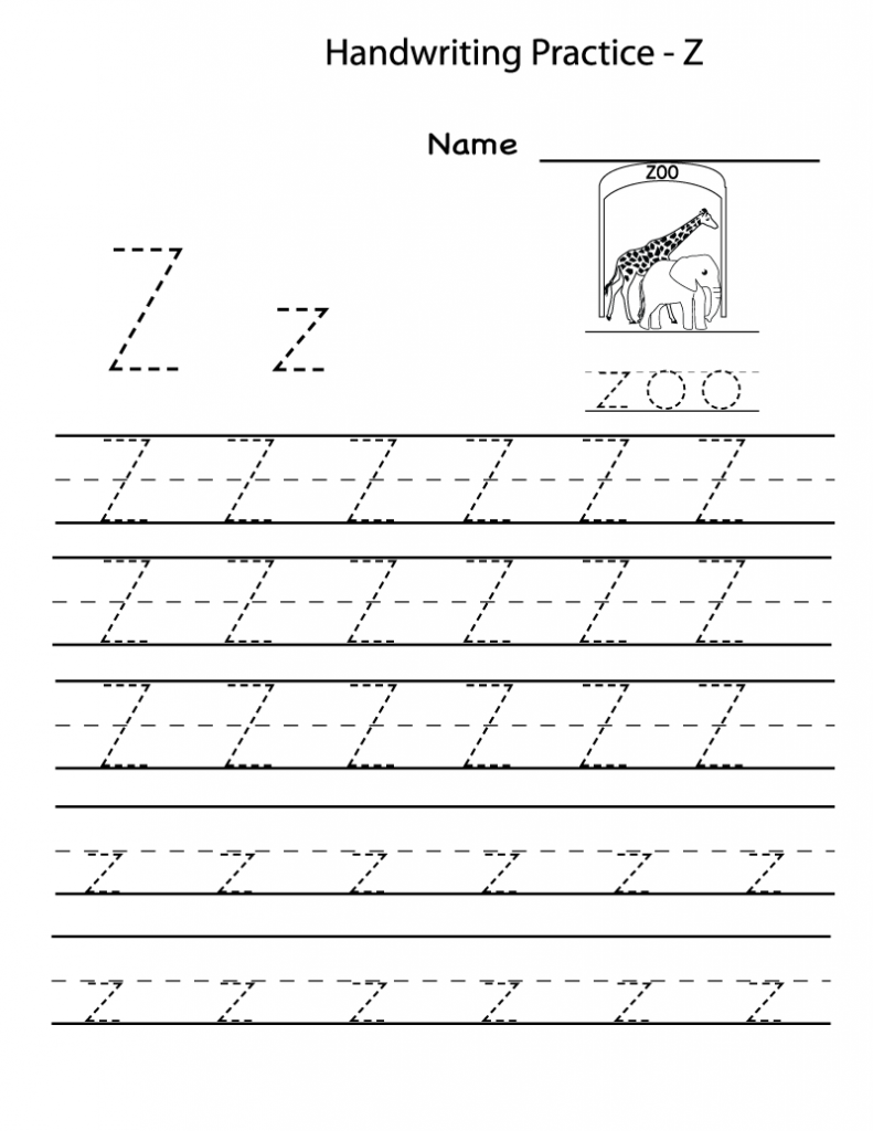 Free Printable Worksheets For Preschoolers For The Letter Z Writing Practice Worksheets Kindergarten Letters Writing Worksheets [ 1024 x 791 Pixel ]