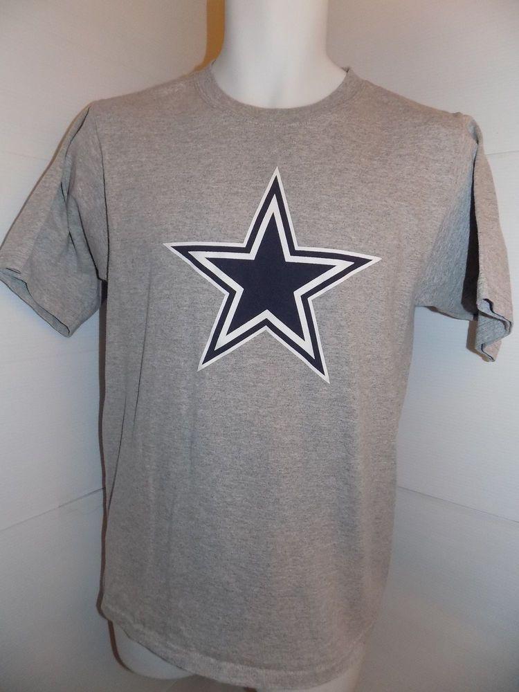 Dallas Cowboys Team Apparel Blue Star T Shirt Size Small Gray #CowboysApparel #DallasCowboys