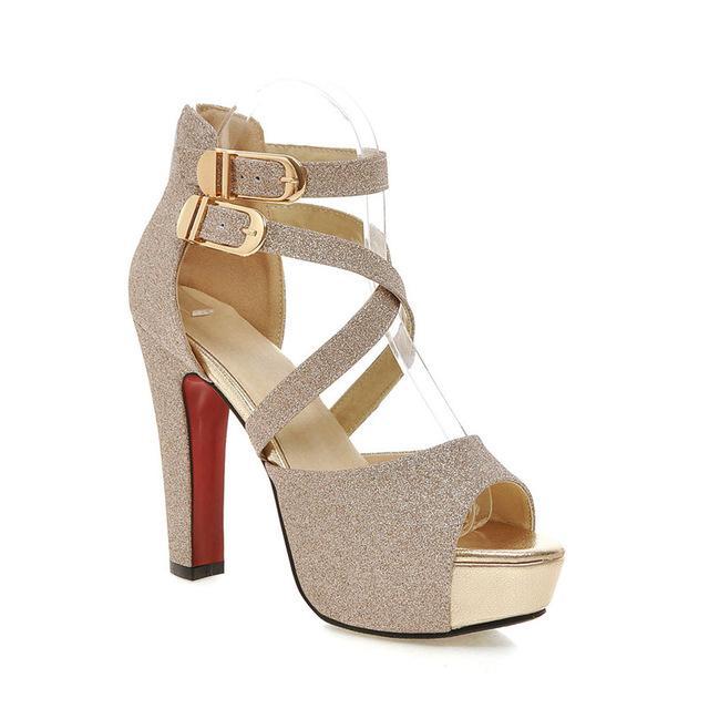 Wedding high heels, Black sandals heels