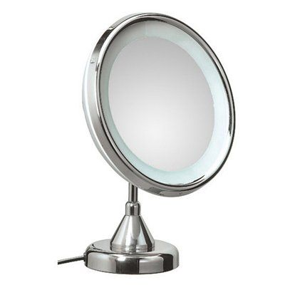 WS Bath Lucciolo 22-1KK3 Collection Mirror Pure III Free Standing Telescopic Magnifying/Makeup Mirror w/ Incandescent Light