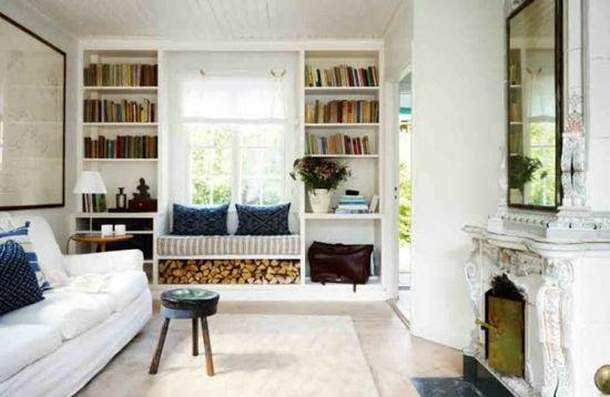 Gemutliche Sitzbank Am Fenster Helle Leseecke Einrichten Bucherregal Design Wohnzimmer Gemutlich Und Zuhause